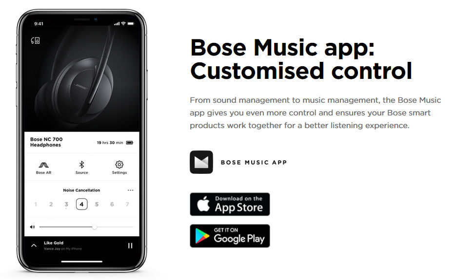 From sound management to music management, the Bose Music app gives you even more control and ensures your Bose smart products work together for a better listening experience.