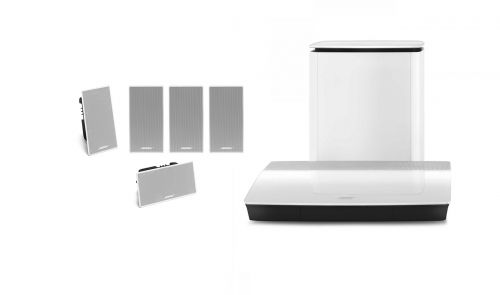 BOSE Lifestyle 600 In Wall  Flush Home Theatre System White