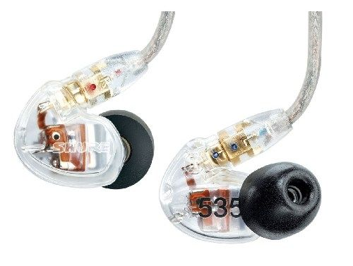 SHURE SE535 Noise Isolating In Ear Monitors - Clear
